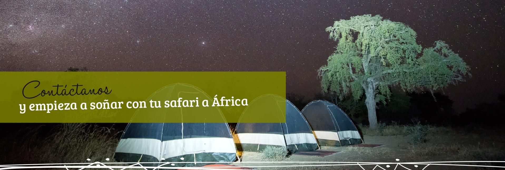 Contáctanos y empieza a soñar con tu safari a África