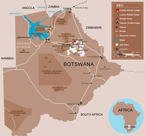 mapa de El Congo