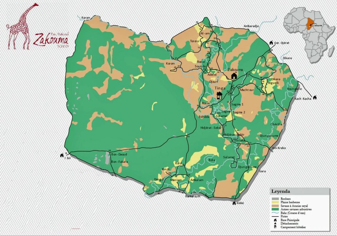 mapa de Chad