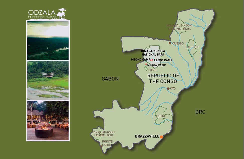 Mapa de Localizacion Odzala | Sawa Expeditions